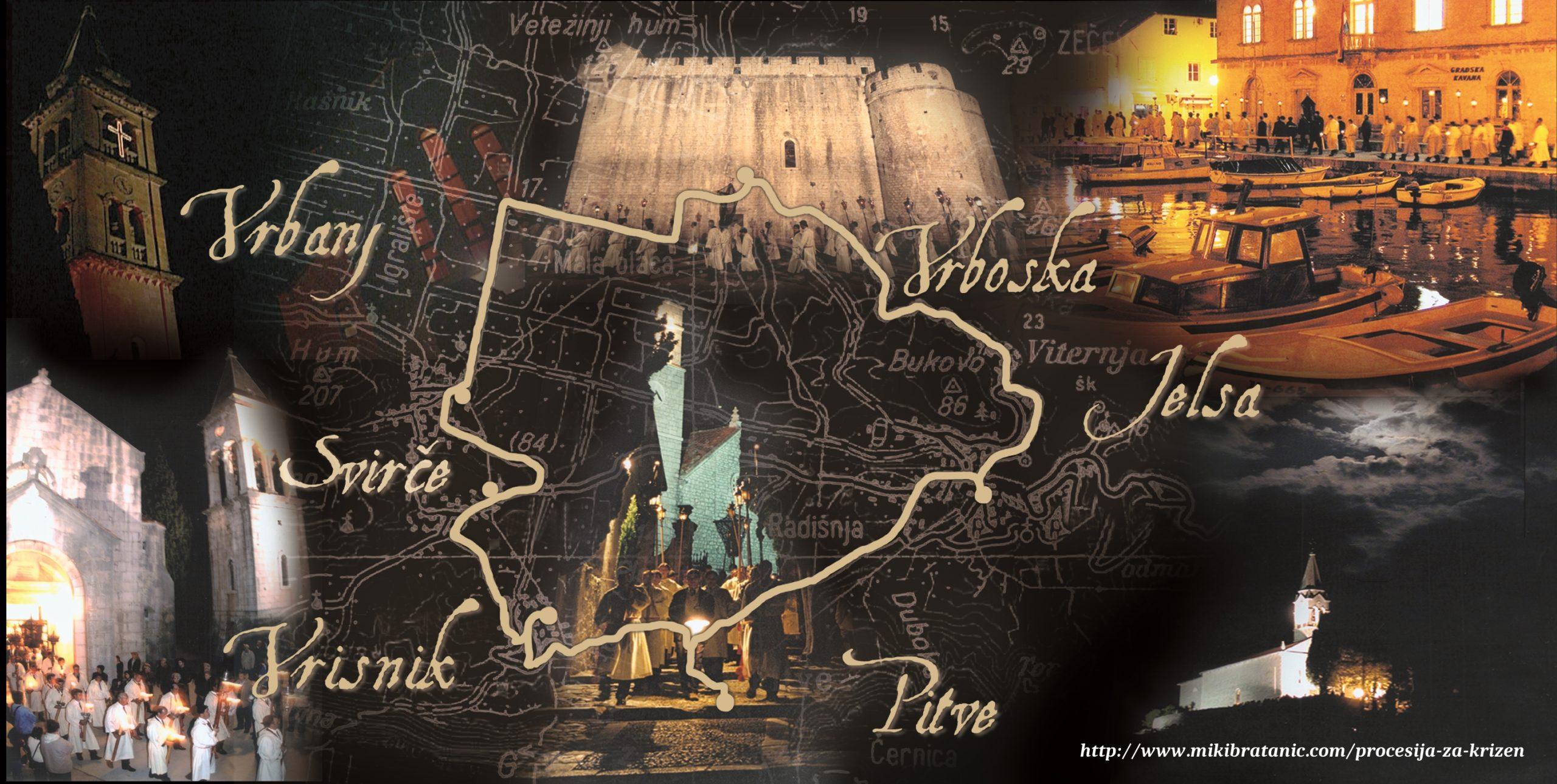Procesija Za križen - mapa